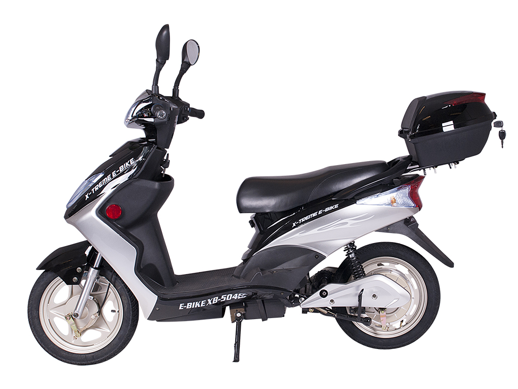 moped scooter electric bicycle e-bike black