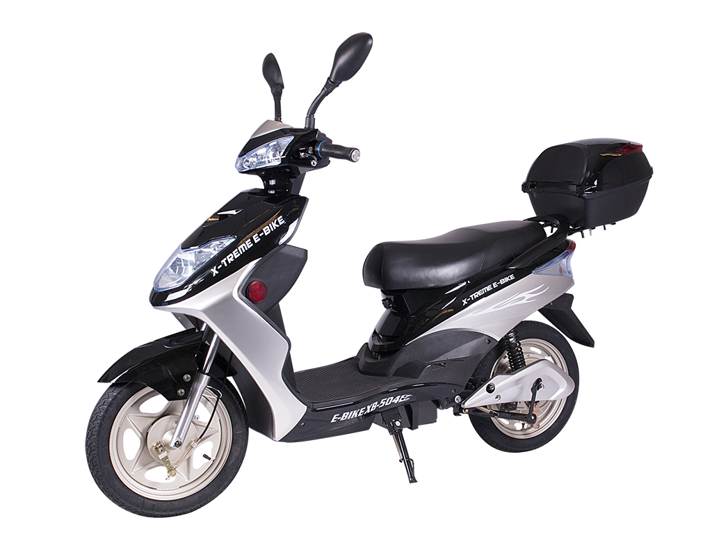 x-treme e-bike xb-504 moped bicycle black