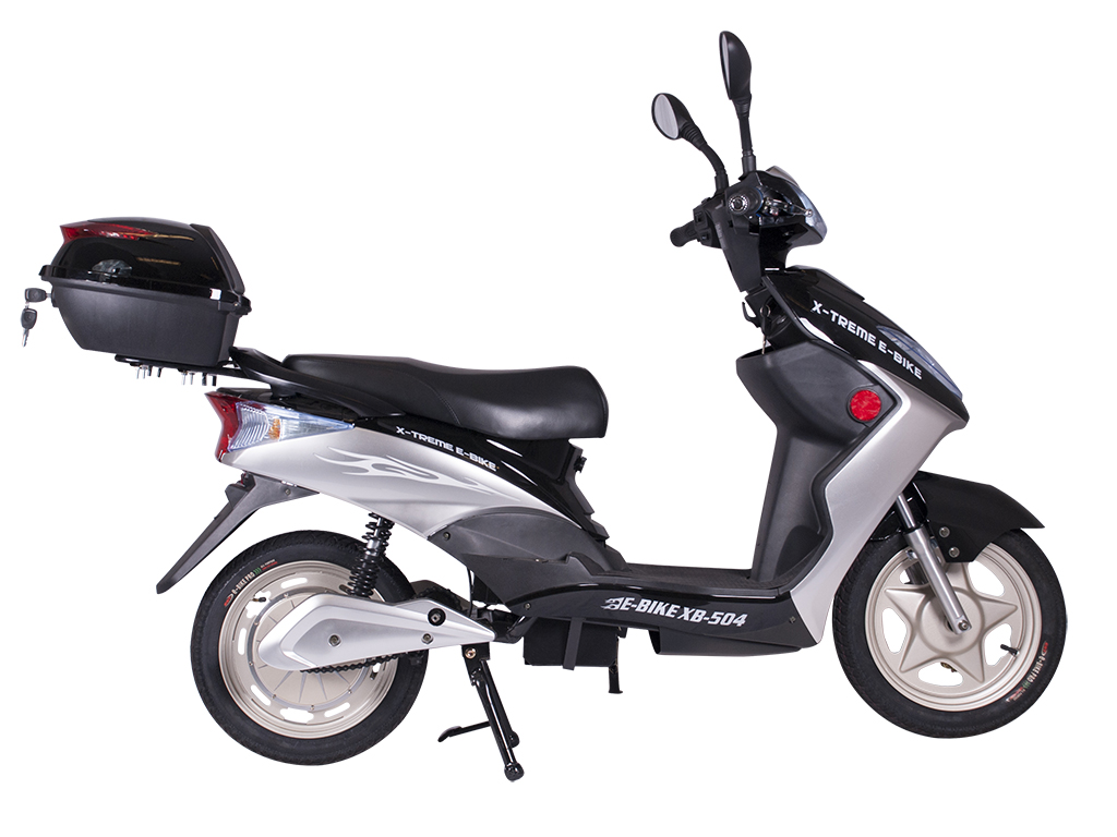 x-treme moped scooter electric bicycle black