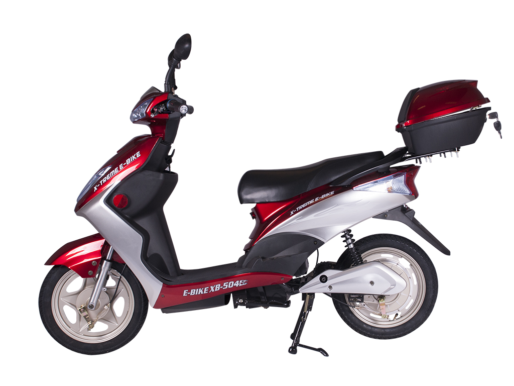 X treme e bikes xb 504 electric bicycle moped motorcycle for Motor scooter dealers near me
