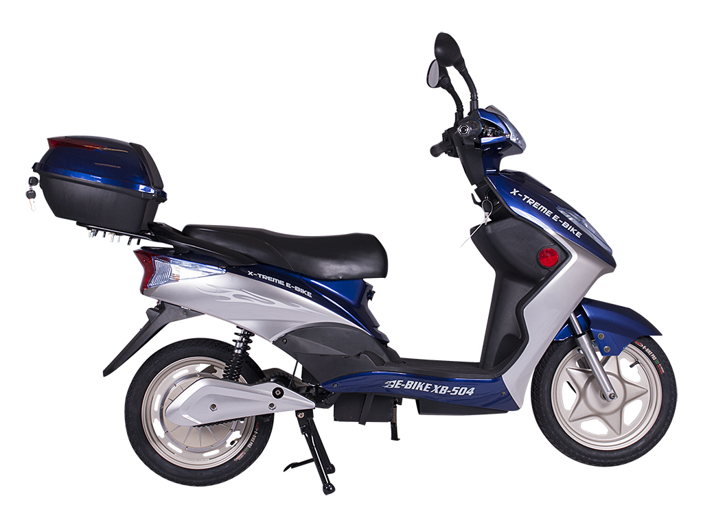 x-treme moped scooter electric bicycle blue