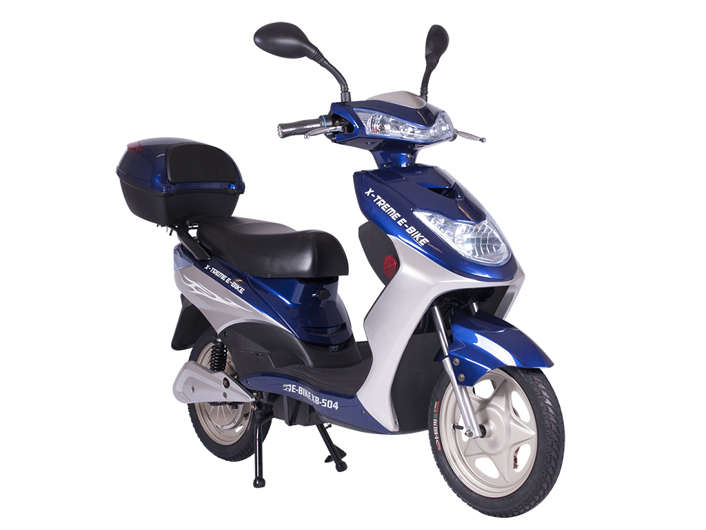moped electric bicycle pedal assist blue